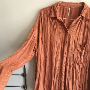 Free people rust button down
